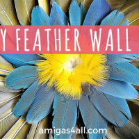 How to Make a Colorful Summer DIY Feather Wall Art