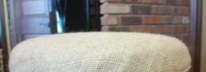 burlap bar stool seat after amigas4all