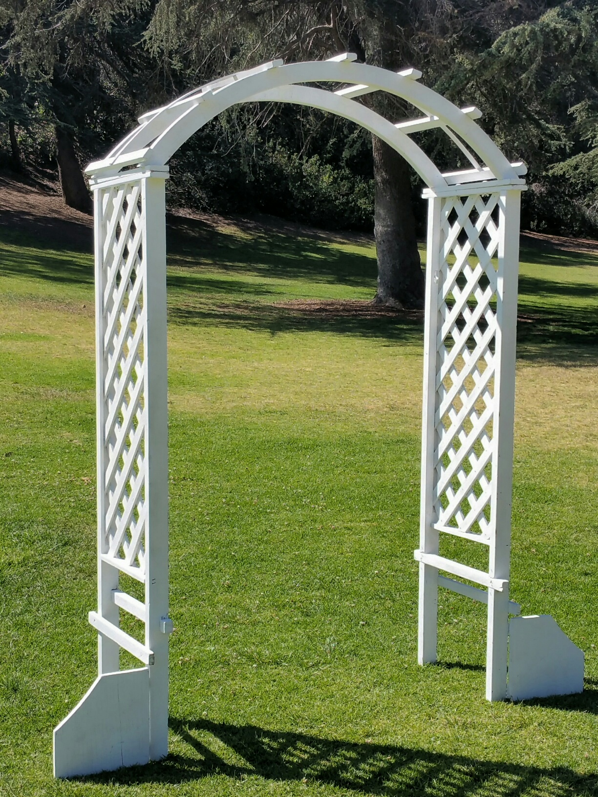 White Wood Garden Arch 60W x 92H  Amigo Party Rentals Inc