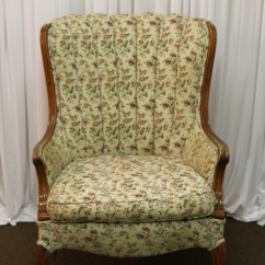 Floral Arm Chair High Top Patio Table And Chairs Vintage Amigo Party Rentals Inc