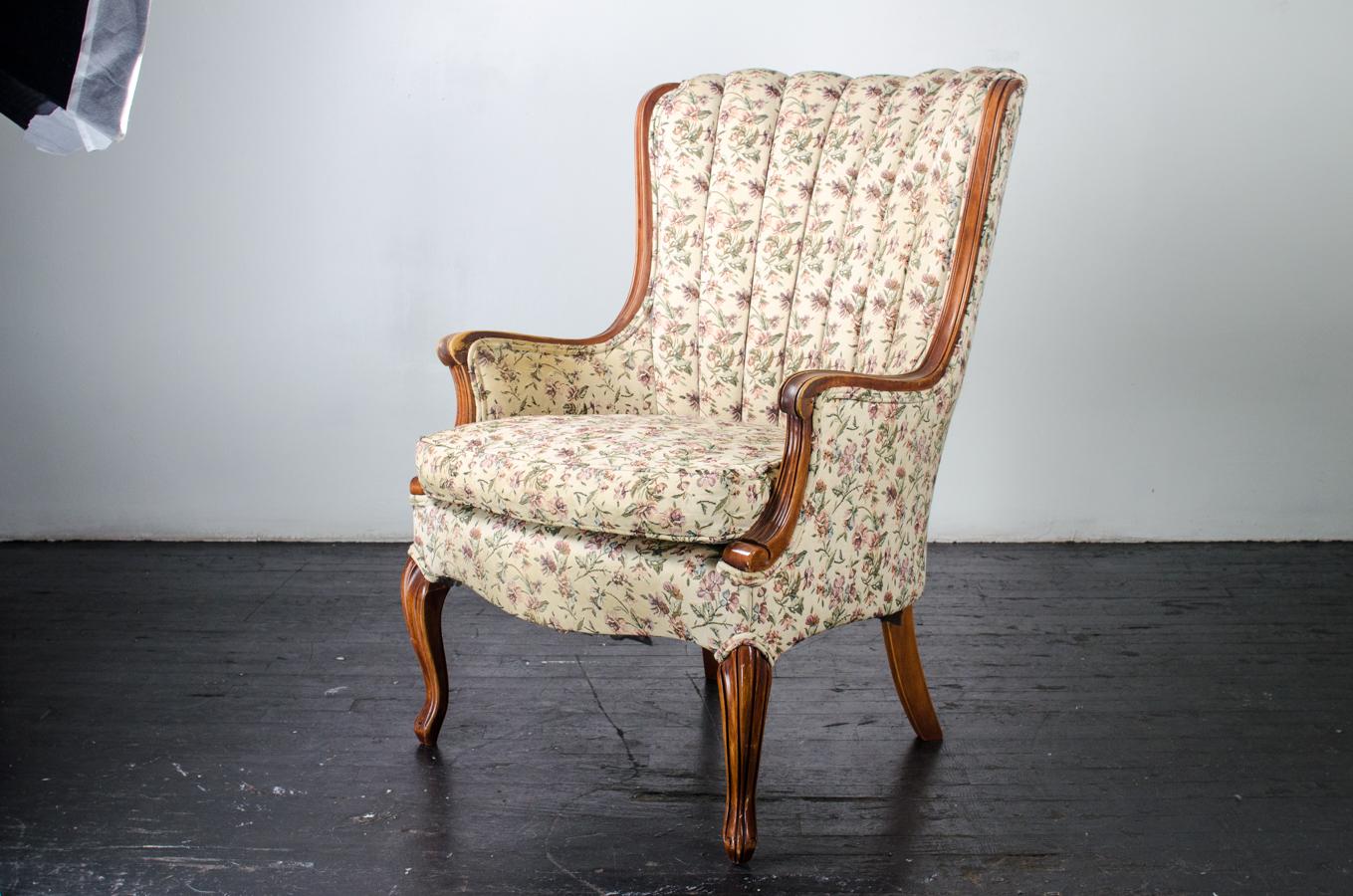 floral arm chair increase dining height vintage amigo party rentals inc