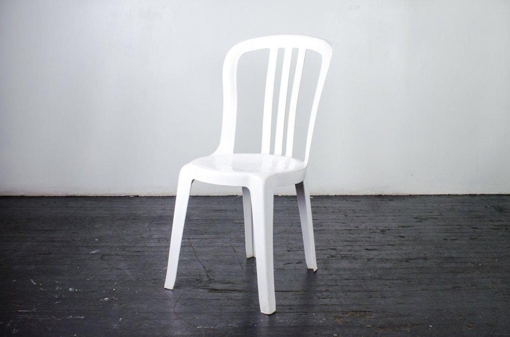 Chair Bistro White  Resin  Amigo Party Rentals Inc