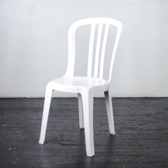 White Chair Rentals Floral Dining Chairs Bistro  Resin Amigo Party Inc