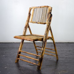 Bamboo Folding Chairs Wedding Chair Without Backrest Amigo Party Rentals Inc