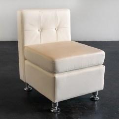 White Tufted Chair Rocker Gaming Australia Arm Less Modern Back Amigo Party Rentals Inc Armless