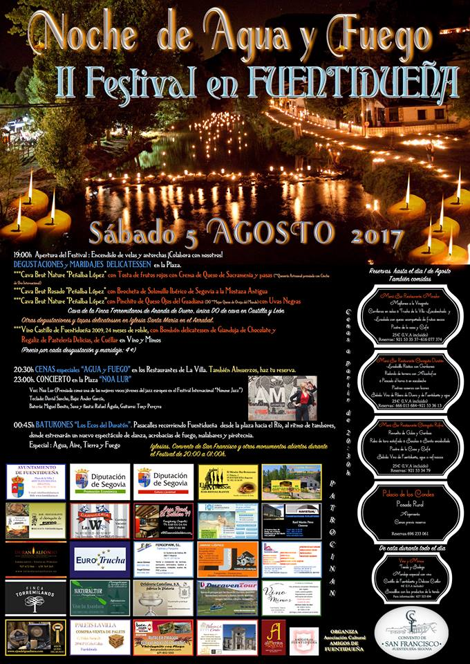 2017-cartel Noche agua y fuego 5 agosto Fuentidueña