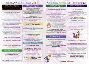 Semana Cultural 2019-fuentidueña programación actividades
