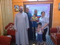 Padres Luis y Jorge, IVE junto a una familia de Irak
