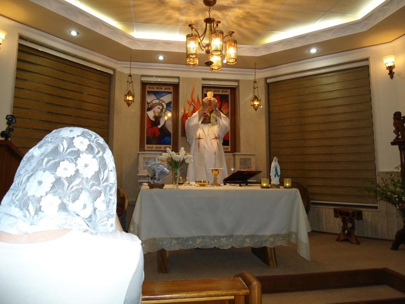 Celebrando la Misa durante los Ejercicios Esprituales