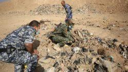Las tropas iraquíes encontraron la fosa por el fuerte olor que emanaba