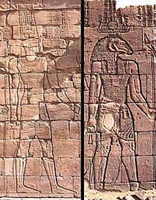 Distintas formas iconográficas de Amón en Nubia