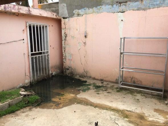 back part of shelter drainage