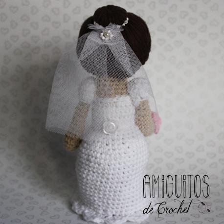 Pareja de Novios, la novia, Amigurumi