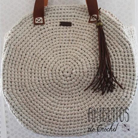 Patrón de Bolso de Verano Redondo - Amiguitos de crochet