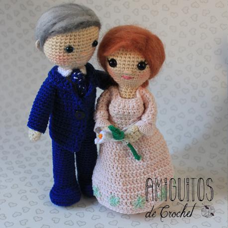 Amigurumis, Pareja de novios, personalizados-Amiguitos de Crochet