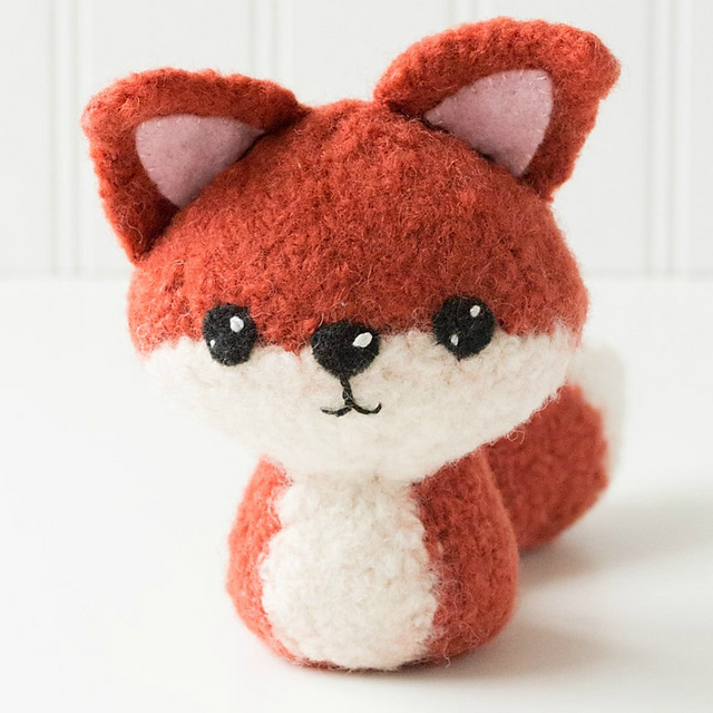 Felted fox pattern
