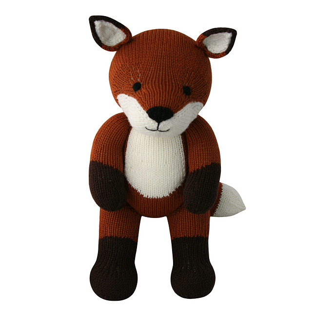 Knitted fox cuddly toy