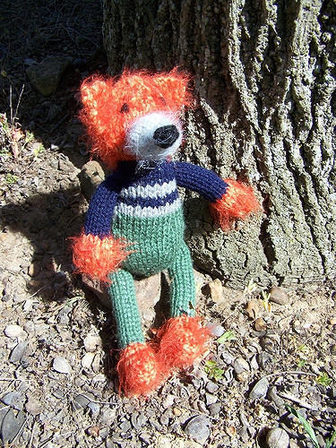 knitted amigurumi fox
