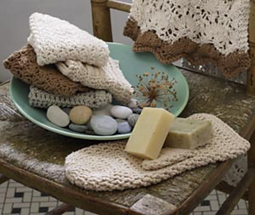Crochet spa washcloth - crochet gift ideas