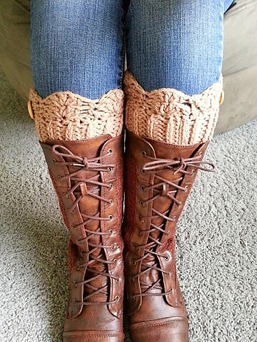 Crocheted Boot Cuff Pattern