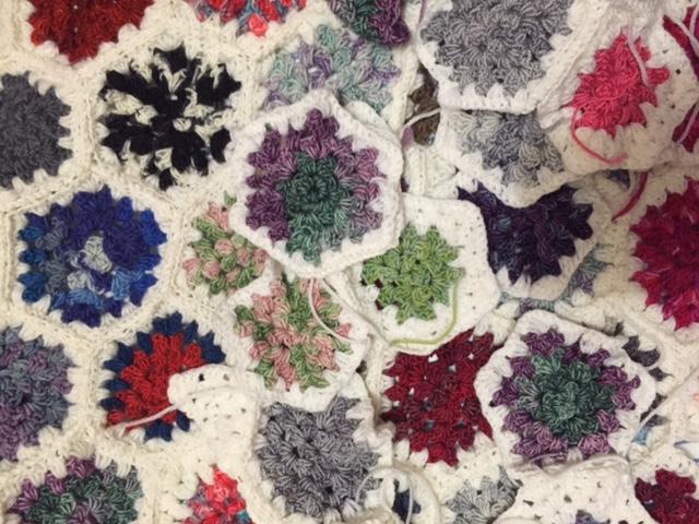 hexagon crochet motif for blanket