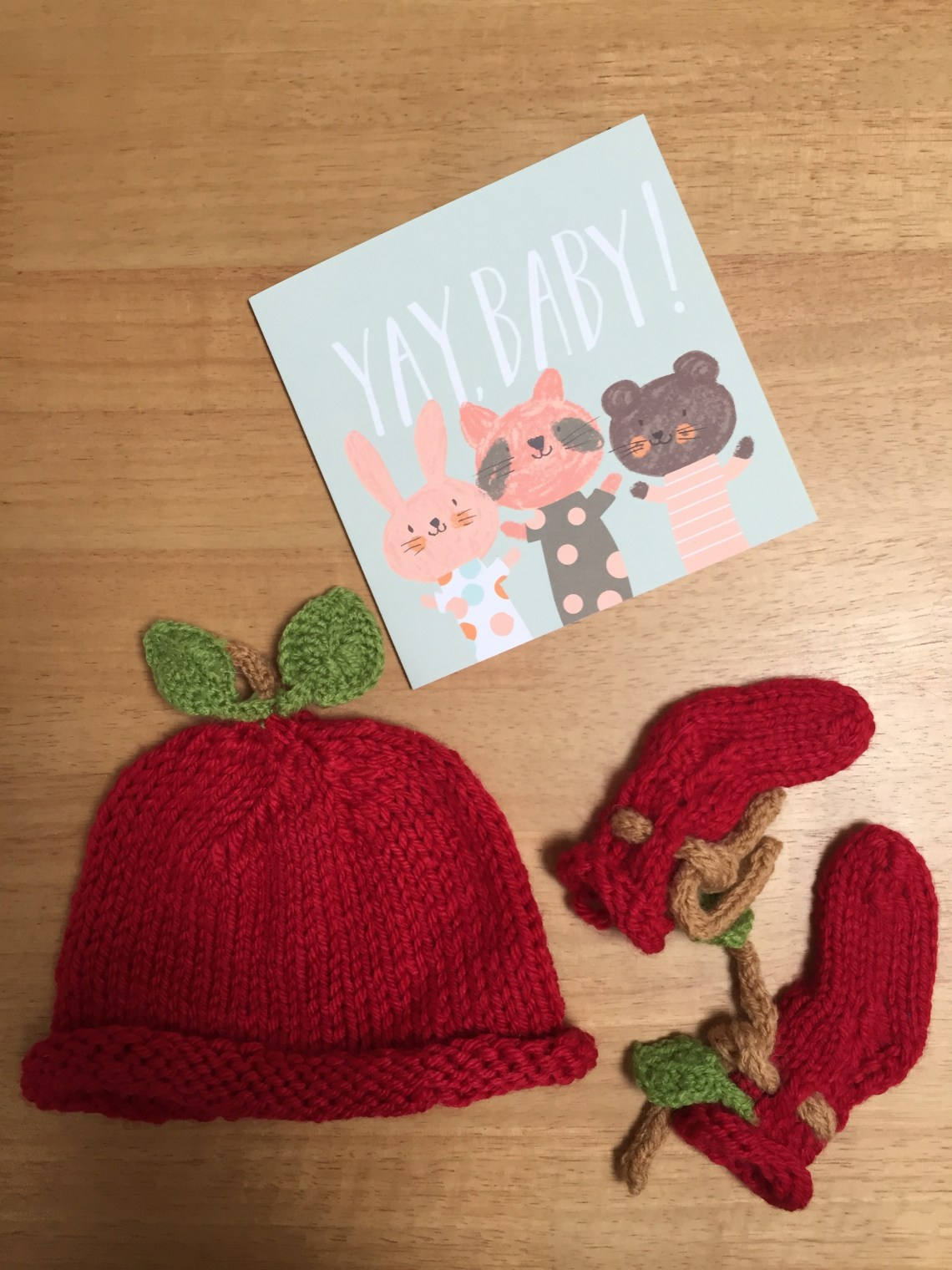6874817b856 Handknit baby gift set - knitted baby booties and hat