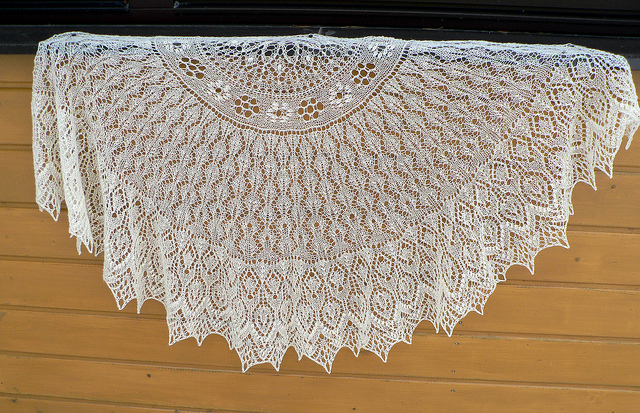Estonian lace wedding shawl