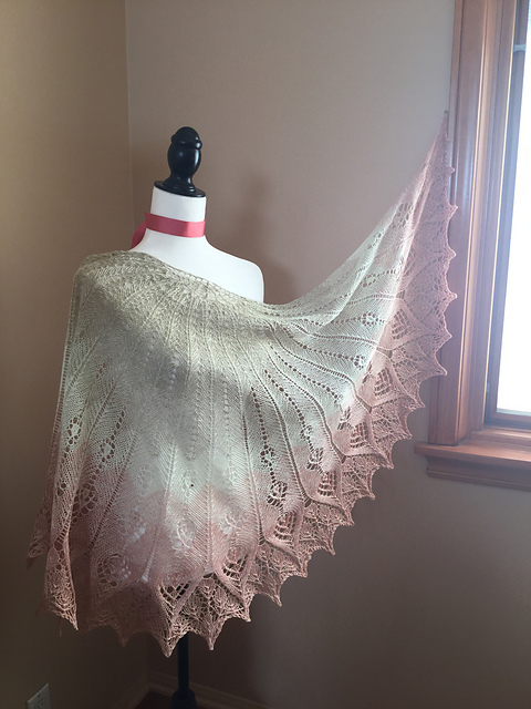 lace wedding shawl knitting pattern