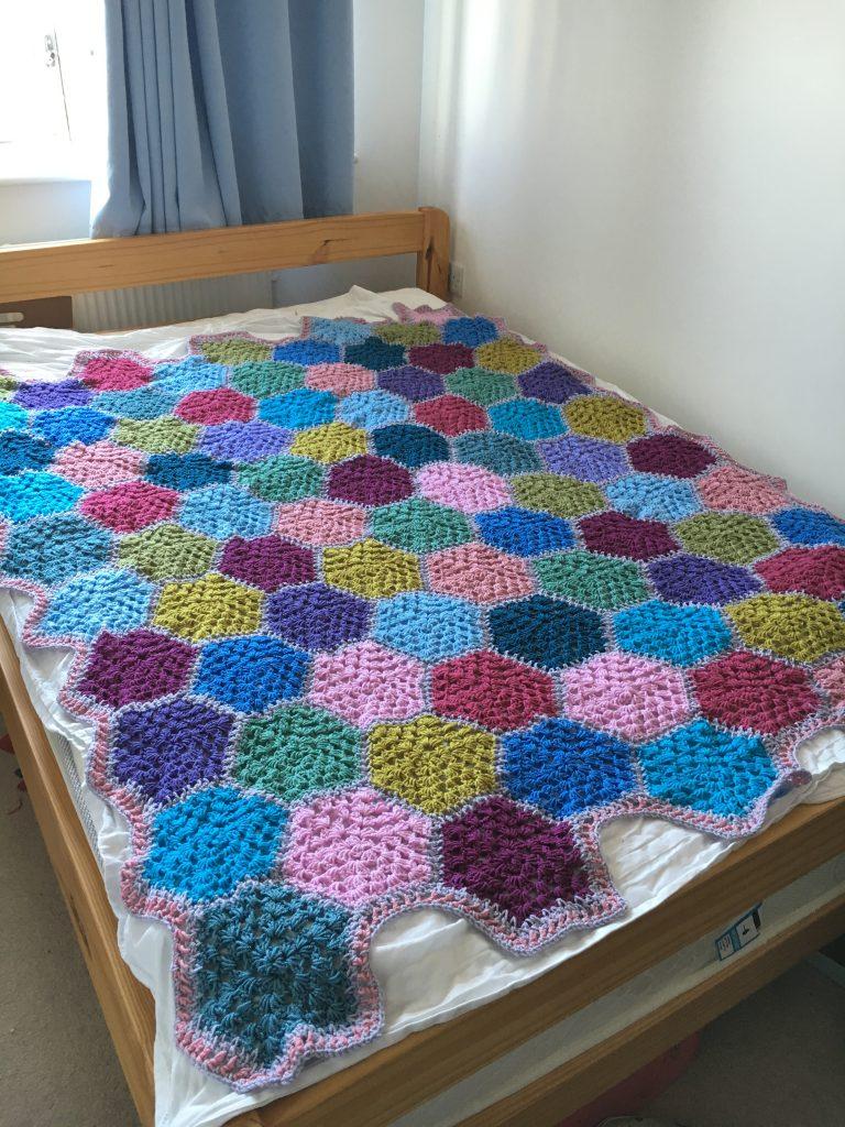 double bed sized crochet blanket