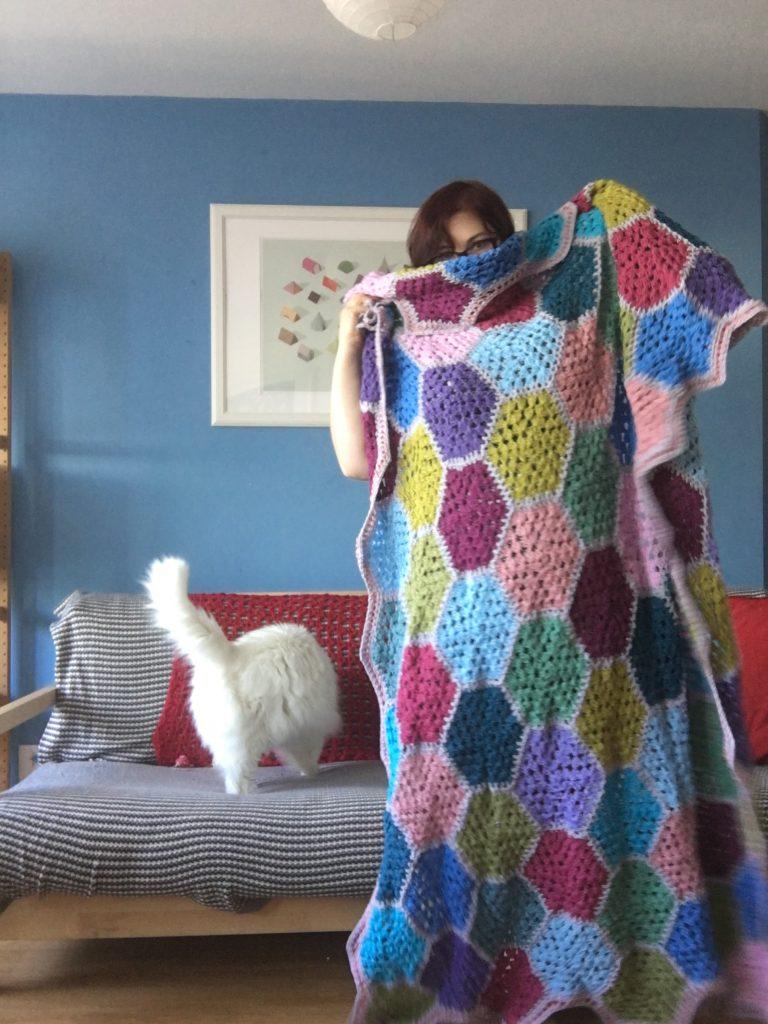 granny hexagon crochet blanket