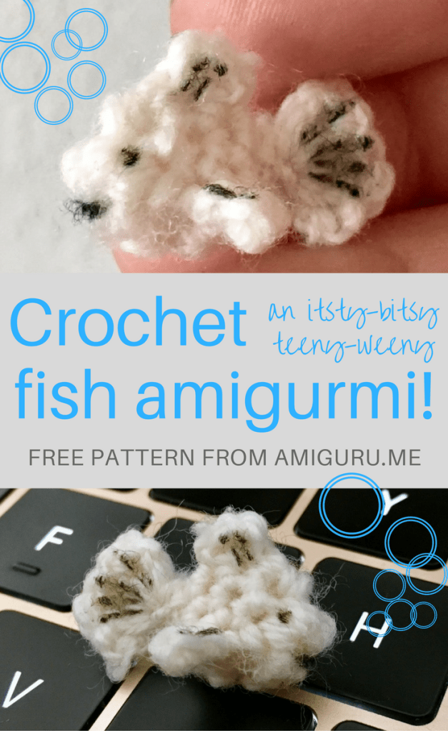 How to crochet a fish amigurumi - free pattern from amiguru.me.