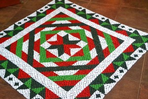 Christmas Granny Square blanket