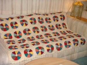 Dresden Plate Crocheted Afghan