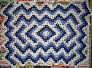 Drop in the Pond Granny Square Blanket