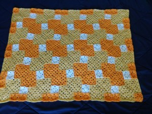 Unusual granny square blankets