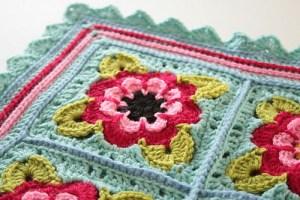 Painted Roses pastel crocheted afghan