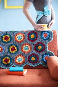 Crocheted hexagon afghan free pattern