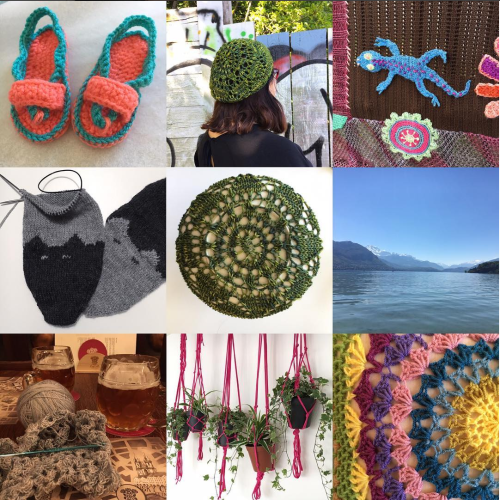April knitting, crochet, and more.