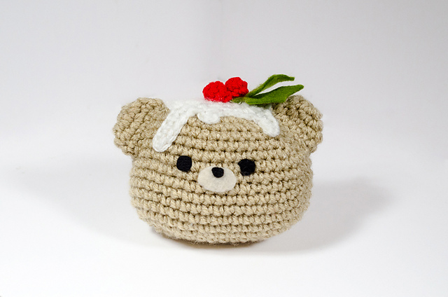 Christmas Pudding Bear Ornament