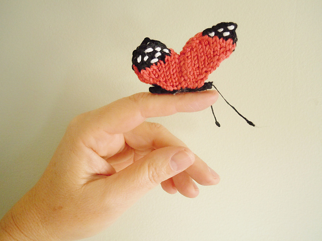 Knitted butterfly decoration
