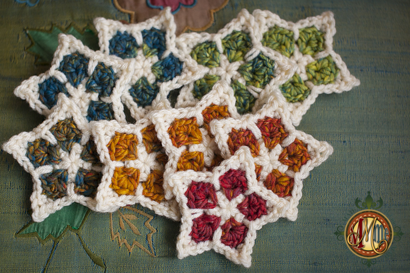 crocheted star christmas ornament