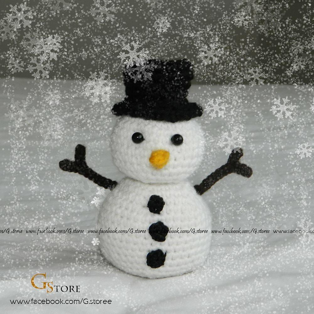 Snowman crochet christmas pattern