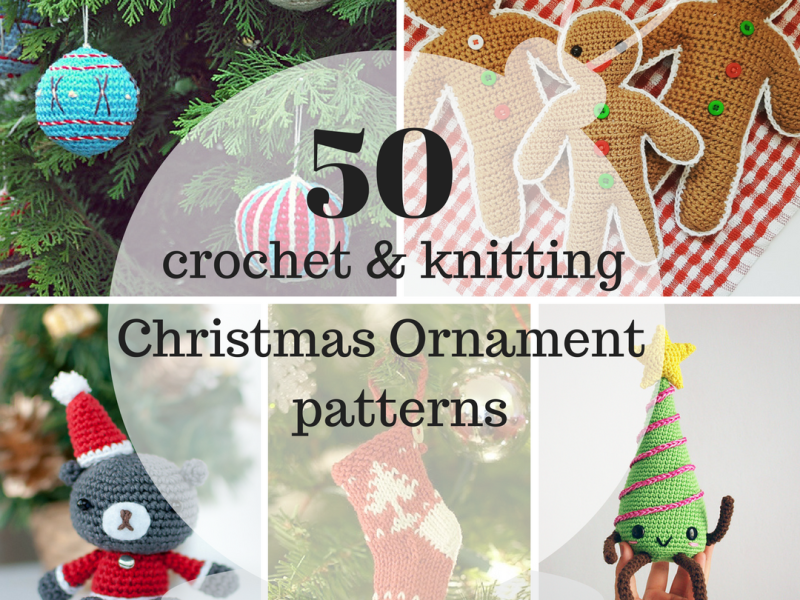 50 of the Best Crochet + Knitted Christmas Ornaments | amiguru.me