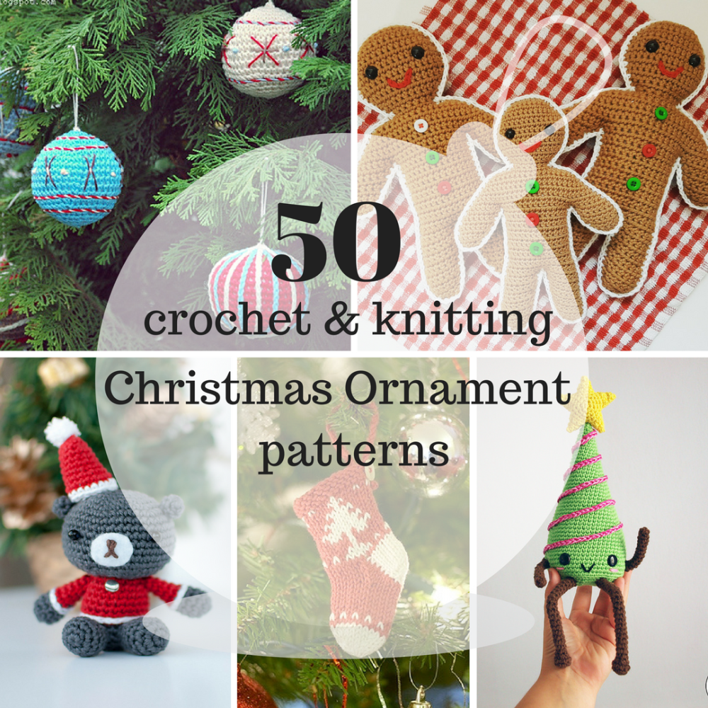 50 crochet + knitting Christmas ornament patterns