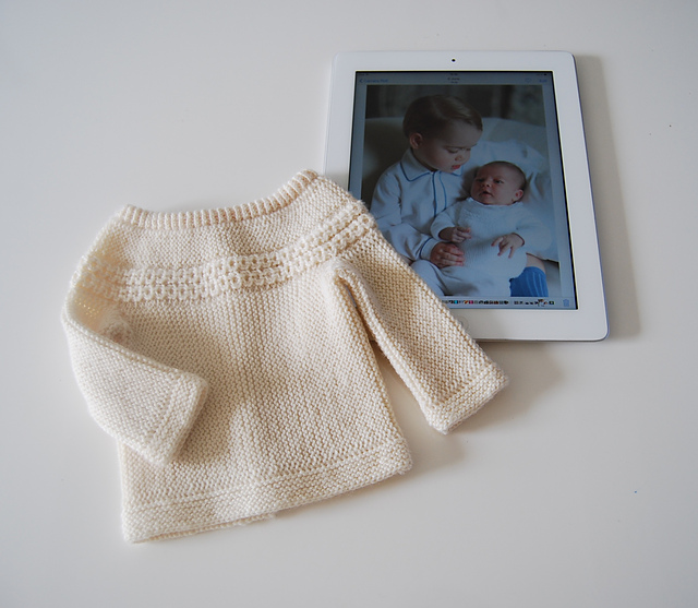Princess Charlotte cardigan knitting patter