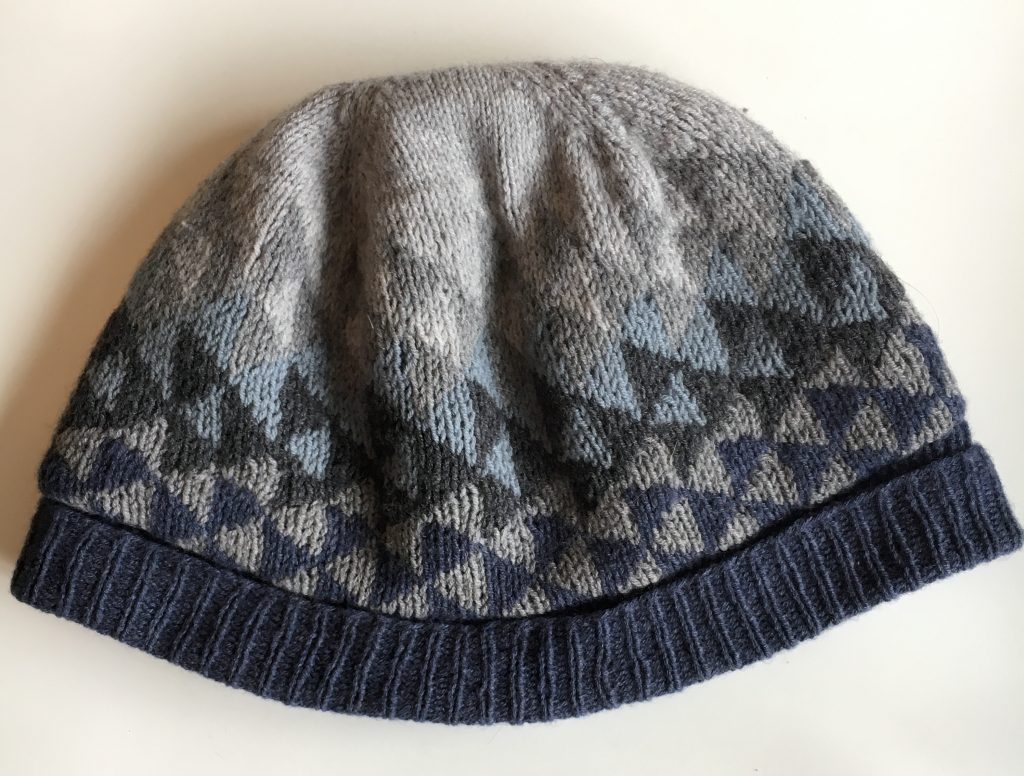 A colourwork winter beanie