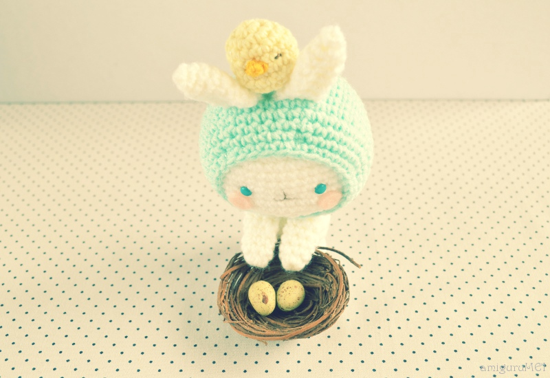 Free Easter Amigurumi Pattern Haru Chan And Baby Chioux