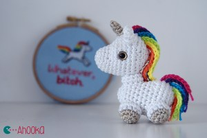 Tiny unicorn amigurumi