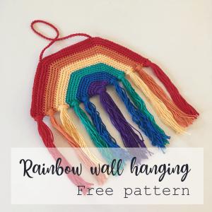 Rainbow Wall Hanging Free Pattern