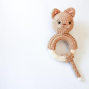 kitten teether crochet kit